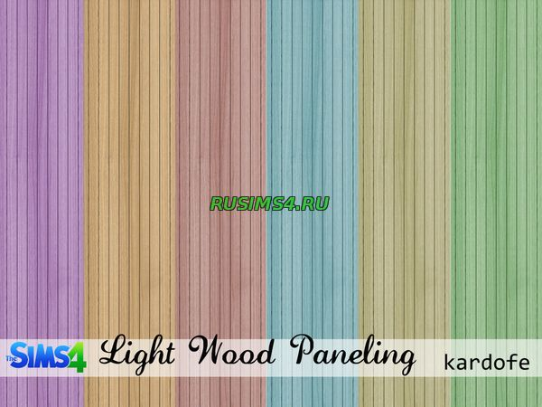 kardofe_Walls_Light wood paneling от kardofe