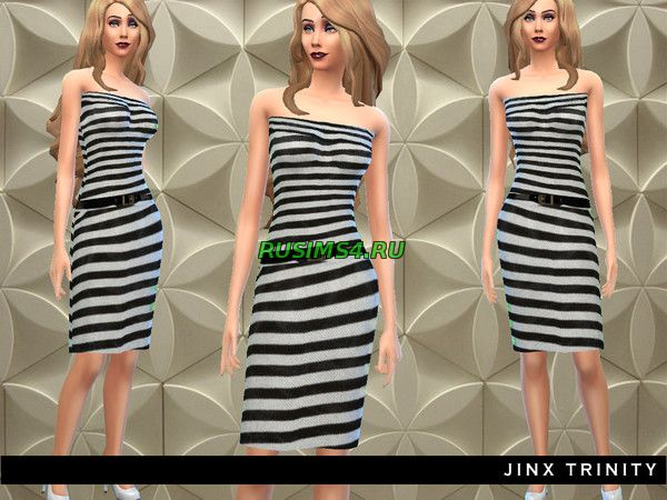 Two pieced striped dress от JinxTrinity