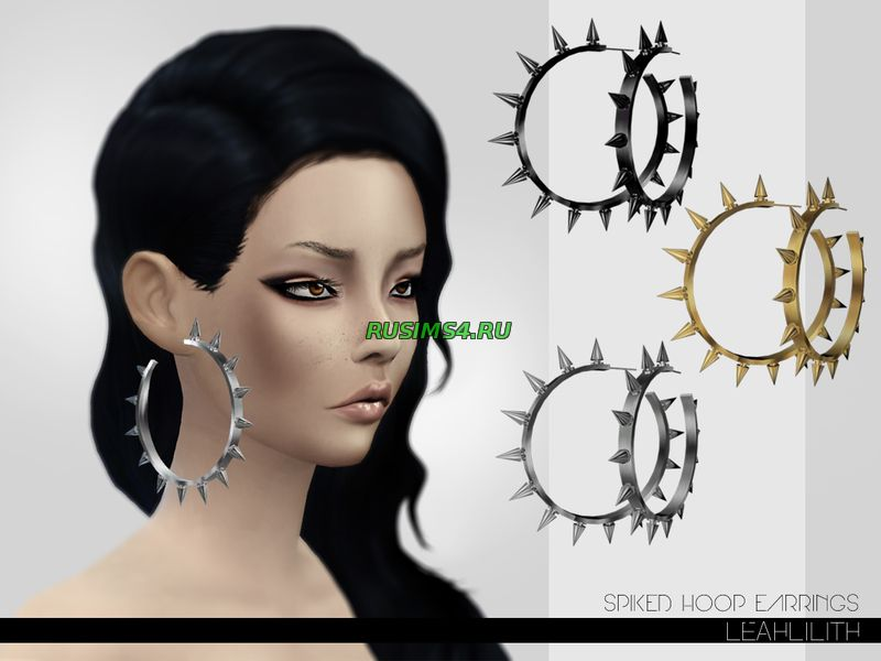 Leahlillith Spiked Hoop Earrings от Leah Lillith