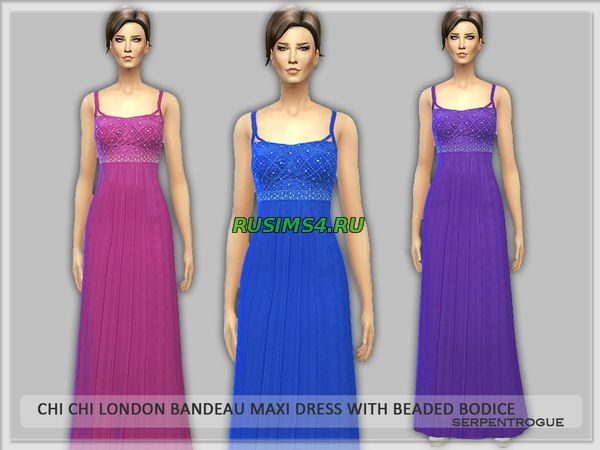 Chi Chi London Bandeau Maxi Dress with Beaded Bodice от Serpentrogue