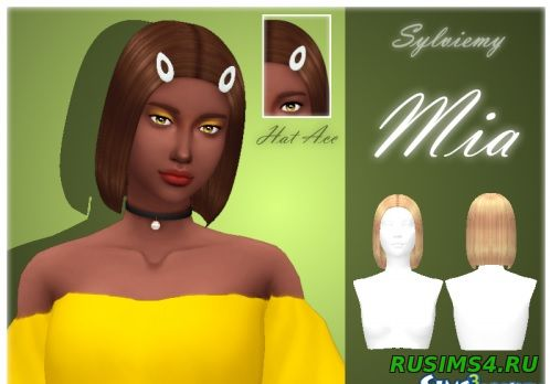 Прически для sims 4 Mia Hairstyle Set