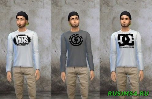Свитшот Skatelogo crewneck от Rebel thread sims